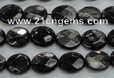 CHS12 15.5 inches 10*12mm faceted oval natural hypersthene beads