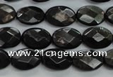 CHS14 15.5 inches 10*14mm faceted oval natural hypersthene beads