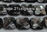 CHS27 15.5 inches 15*15mm faceted square natural hypersthene beads