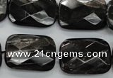 CHS39 15.5 inches 18*25mm faceted rectangle natural hypersthene beads