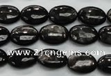 CHS71 15.5 inches 10*14mm oval natural hypersthene beads