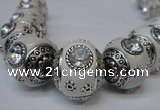 CIB190 19mm round fashion Indonesia jewelry beads wholesale