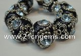 CIB204 19mm round fashion Indonesia jewelry beads wholesale