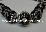 CIB213 17mm round fashion Indonesia jewelry beads wholesale