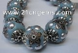 CIB223 18mm round fashion Indonesia jewelry beads wholesale