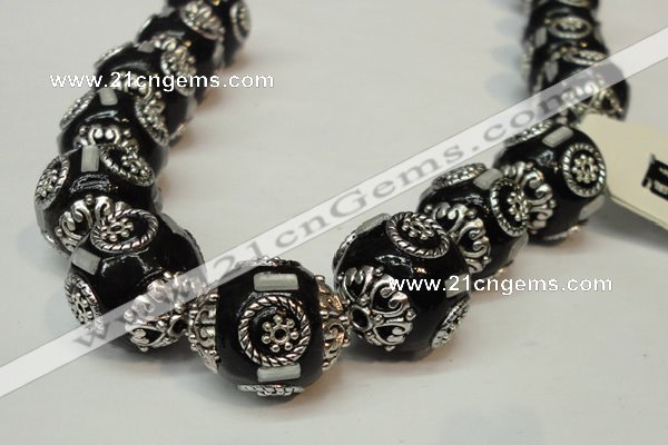 CIB229 18mm round fashion Indonesia jewelry beads wholesale