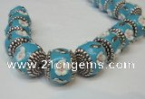 CIB261 17*18mm drum fashion Indonesia jewelry beads wholesale