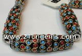 CIB35 17*60mm rice fashion Indonesia jewelry beads wholesale