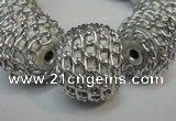 CIB450 24mm round fashion Indonesia jewelry beads wholesale
