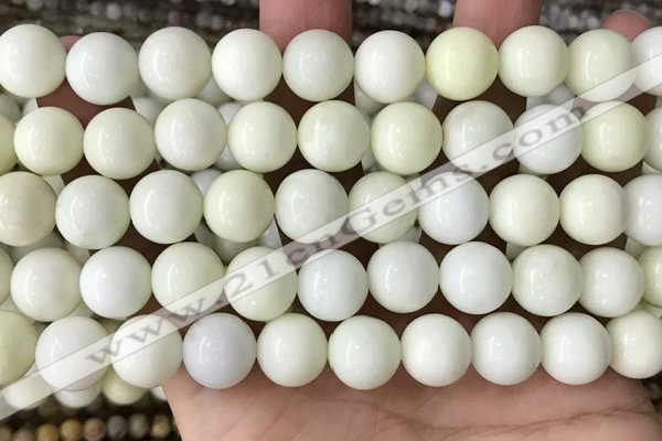 CIJ204 15.5 inches 12mm round ivory jade beads wholesale
