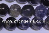 CIL04 15.5 inches 9mm round natural iolite gemstone beads