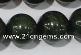 CIS06 15.5 inches 16mm round green iron stone beads wholesale