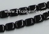 CJB25 16 inches 8*10mm rectangle natural jet gemstone beads wholesale