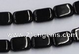 CJB26 16 inches 10*14mm rectangle natural jet gemstone beads wholesale