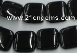 CJB29 16 inches 16*16mm square natural jet gemstone beads wholesale
