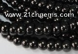CJB48 15.5 inches 4*6mm rondelle natural jet gemstone beads