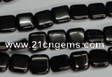 CJB58 15.5 inches 10*10mm square natural jet gemstone beads