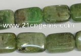 CKC67 15.5 inches 13*18mm rectangle natural green kyanite beads