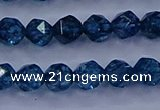 CKC711 15.5 inches 6mm faceted nuggets imitation kyanite beads