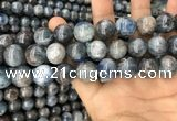 CKC755 15.5 inches 14mm round blue kyanite beads wholesale