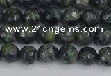CKJ310 15.5 inches 4mm faceted round kambaba jasper beads