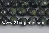 CKJ311 15.5 inches 6mm faceted round kambaba jasper beads