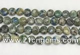 CKJ489 15.5 inches 10mm flat round natural k2 jasper beads