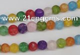 CKQ02 15.5 inches 6mm round matte dyed crackle quartz beads