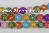 CKQ12 15.5 inches 8mm round dyed crackle quartz beads wholesale