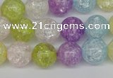 CKQ24 15.5 inches 12mm round dyed crackle quartz beads wholesale