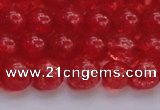 CKQ317 15.5 inches 10mm round dyed crackle quartz beads wholesale