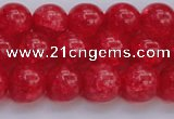 CKQ318 15.5 inches 12mm round dyed crackle quartz beads wholesale
