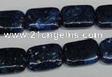 CKU125 15.5 inches 13*18mm rectangle dyed kunzite beads wholesale