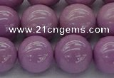 CKU315 15.5 inches 11mm round kunzite gemstone beads