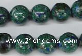 CLA483 15.5 inches 14mm round synthetic lapis lazuli beads