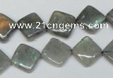 CLB153 15.5 inches 10*10mm diamond labradorite gemstone beads