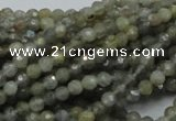 CLB20 15.5 inches 4mm faceted round labradorite gemstone beads