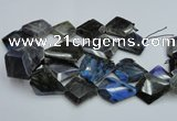 CLB219 15.5 inches 30*35mm - 40*45mm faceted freeform labradorite beads