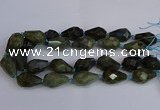 CLB234 15.5 inches 18*25mm - 18*30mm faceted teardrop labradorite beads