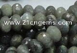 CLB31 15.5 inches 8*12mm faceted rondelle labradorite gemstone beads