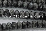 CLB321 15.5 inches 5*10mm faceted rondelle black labradorite beads