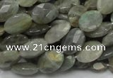 CLB41 15.5 inches 10*14mm faceted oval labradorite gemstone beads