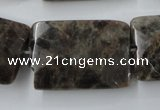 CLB426 15.5 inches 20*30mm faceted rectangle grey labradorite beads
