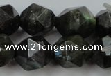 CLB455 15 inches 14mm faceted nuggets labradorite gemstone beads
