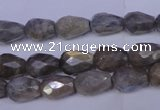 CLB502 15.5 inches 8*12mm faceted teardrop labradorite beads