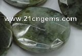 CLB53 15.5 inches 30mm faceted flat round labradorite gemstone beads