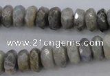CLB59 15.5 inches 6*12mm faceted rondelle labradorite beads wholesale