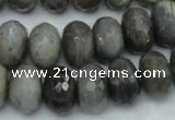 CLB60 15.5 inches 12*18mm faceted rondelle labradorite beads