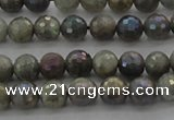 CLB611 15.5 inches 6mm faceted round AB-color labradorite beads