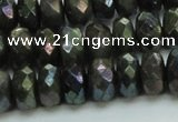 CLB625 15.5 inches 7*12mm faceted rondelle AB-color labradorite beads